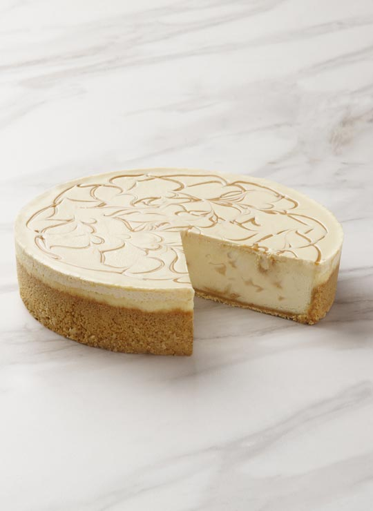 A slice of Banoffee Cheesecake
