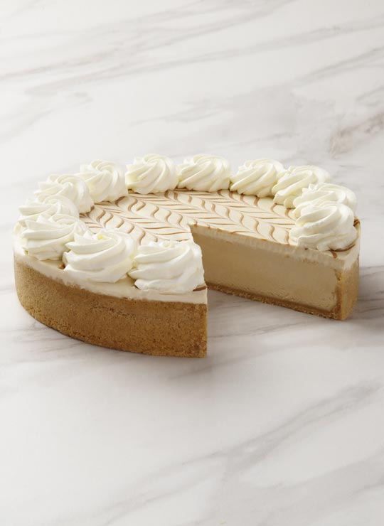 A slice of Dulce de Leche Cheesecake